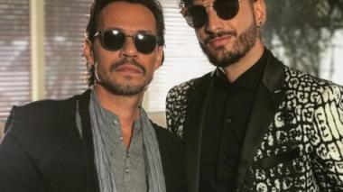Maluma y Marc Anthony, en 'Felices los cuatro' versión salsa