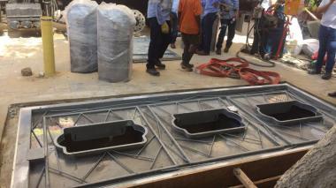 Instalan sistema soterrado de recolección de residuos