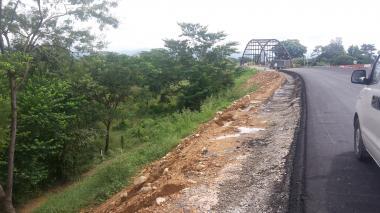 Con las obras se han afectado dos quebradas.
