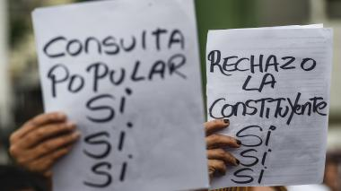 Oposición venezolana espera un 'no' masivo a Constituyente