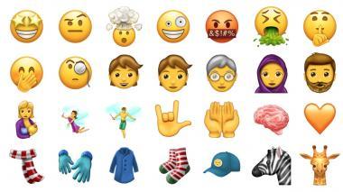 Algunos de los nuevos Emojis.