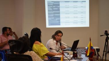 Melissa Velilla, secretaria de Salud de Sucre.
