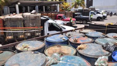 Han incautado cerca de 170 mil galones de gasolina de contrabando en La Guajira