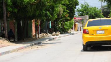 Calle en donde fue baleado Erneis David Egea Freile.