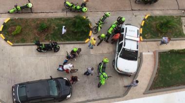 En video   Capturan a tres presuntos delincuentes en el barrio La Campiña