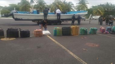 Aspecto de la cocaína incautada en Guatemala.