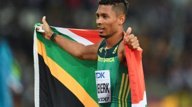 El atleta sudafricano Wayde Van Niekerk.