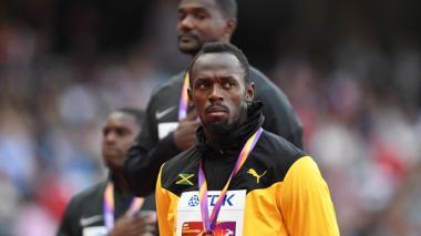 Usain Bolt no pudo ganar el oro en su retiro.