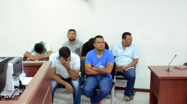 Seis de los capturados presentes en la audiencia celebrada en la mañana de este viernes.