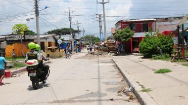 Sector de Rebolo donde fue hallado el cuerpo.