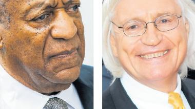 El actor Bill Cosby y el abogado Tom Mesereau.