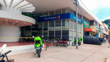 Asaltan sucursal del Banco Bogotá en Valledupar
