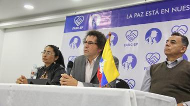 Pastor Alape, durante rueda de prensa sobre bienes inventariados.