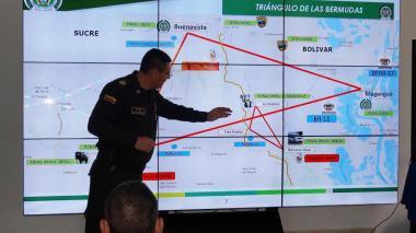 El coronel Julio César Sánchez, comandante de la Policía en Sucre, durante el encuentro.