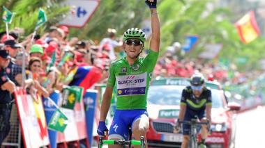 Trentin se impuso en el esprint al español José Joaquín Rojas (Movistar), para hacerse con su segunda victoria de etapa en la ronda española.