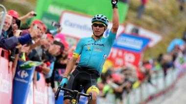 El ciclista colombiano Miguel Ángel López.