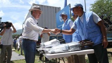 La entrega de las armas a la ONU se cumplió en La Guajira