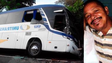 Fallece obrero en choque de bus y camión en el Magdalena
