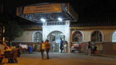 Hospital Barranquilla, donde permanece el lesionado con arma de fuego.
