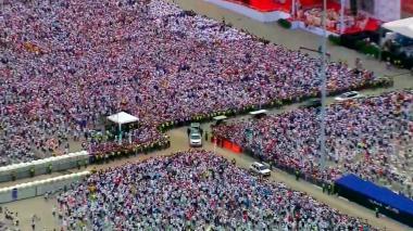 A la misa en Contecar de Cartagena acudieron más de 600.000 personas.