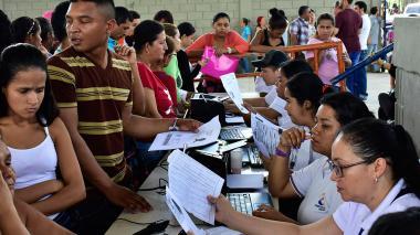 Jornada de recepción de documentos en Baranoa.