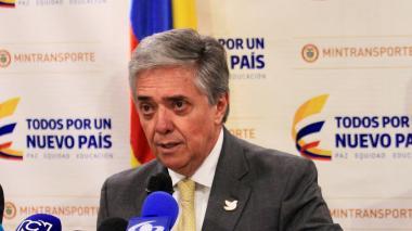 El ministro de Transporte, Germán Cardona.
