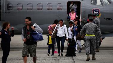 Llegan los primeros 25 rescatados  de San Martin