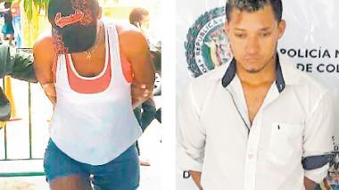 Los dos capturados por la Policía del Atlántico.