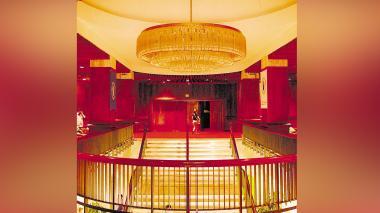 Así lucía el interior del emblemático teatro Amira.