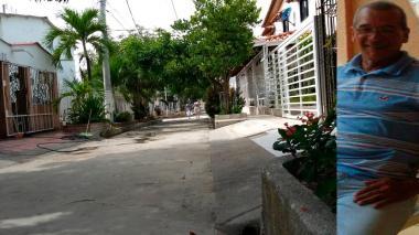 Calle 75C con carrera 22 D, lugar donde fue baleado Mario Griales Rincón (a un lado de la foto).