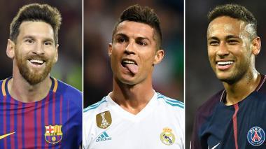 Messi, Cristiano y Neymar, por el premio 'The Best' de la Fifa