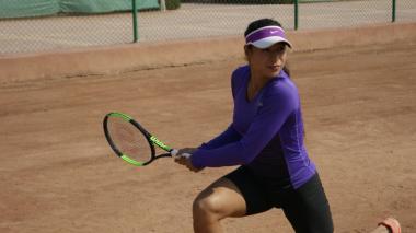 La tenista barranquillera María Fernanda Herazo en Túnez.