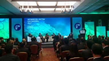 Presentación del décimo octavo informe del gas natural de Promigas en Bogotá.