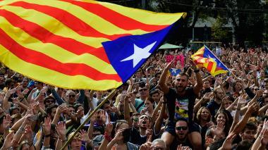 Las marchas por la independencia volvieron a primer plano este lunes en Barcelona.