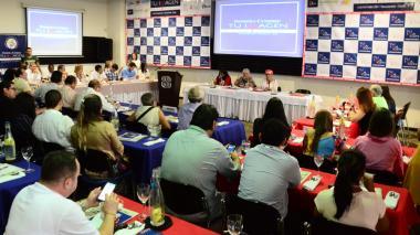 Aspecto de la primera Cumbre de Imagen Política, realizado en Valledupar.