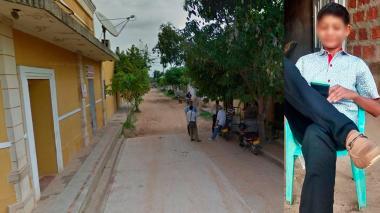 Fiscalía de Pivijay en Magdalena donde se entregó el exconcejal que disparó contra el menor (a un lado de la imagen).