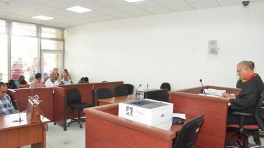 Aspecto de la audiencia de imputación de cargos a los integrantes de 'los Boliteros Millonarios'.