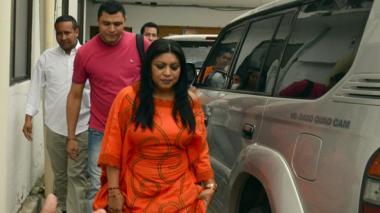 La defensa de Pinto afirmó que es madre cabeza de familia.