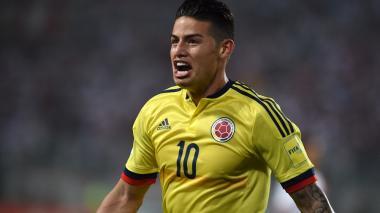 """""""¡Otra vez yo!"""", el grito de James tras anotar el gol ante Perú"""