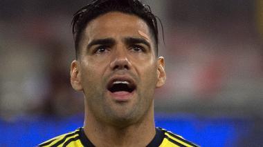 Falcao García, delantero de la Selección Colombia.