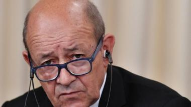 Jean Yves Le Drian, ministro francés de Exteriores.