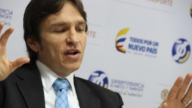 El superintendente de Transporte, Javier Jaramillo.