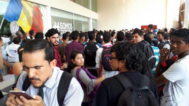 Estudiantes de Uniatlántico impiden ingreso de invitados a firma de RAP