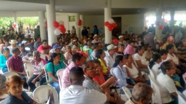 El acto se cumplió en el kiosco múltiple del centro recreacional Tacasuán, en Montería.