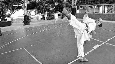 Natalia Bernal, disciplina en el karate
