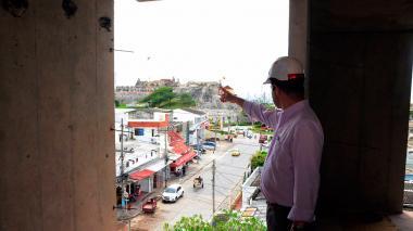 Avanza obra de la primera torre cerca al Castillo de San Felipe