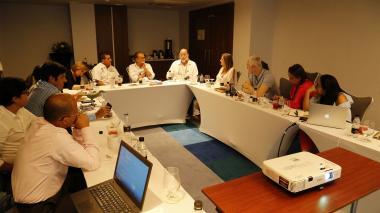 Aspecto de la reunión realizada en Cartagena.