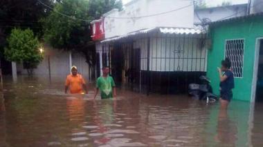 Emergencia en Fundación por desbordamiento del río