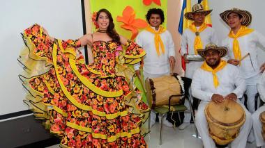 Presentación de Maria Alejandra Borras, reina del Carnaval del Atlántico.