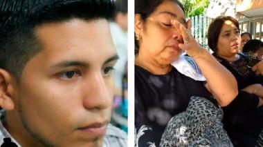 José Manuel Chiquez en una foto en vida. Al lado, madre y tía del venezolano.